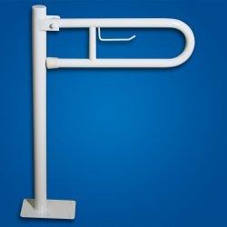 Uchwyt Uchylny WC wolnostojący 60cm PAPier biały fi32  dla niepełnosprawnych