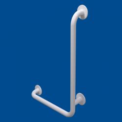 Uchwyt Kątowy dla Niepełnosprawnych prawy 60/40cm biały fi32 + MASKOWNICE