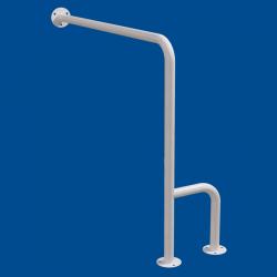Uchwyt WC dla Niepełnosprawnych mocowany do podłoga - ściana lewy 80cm biały fi32