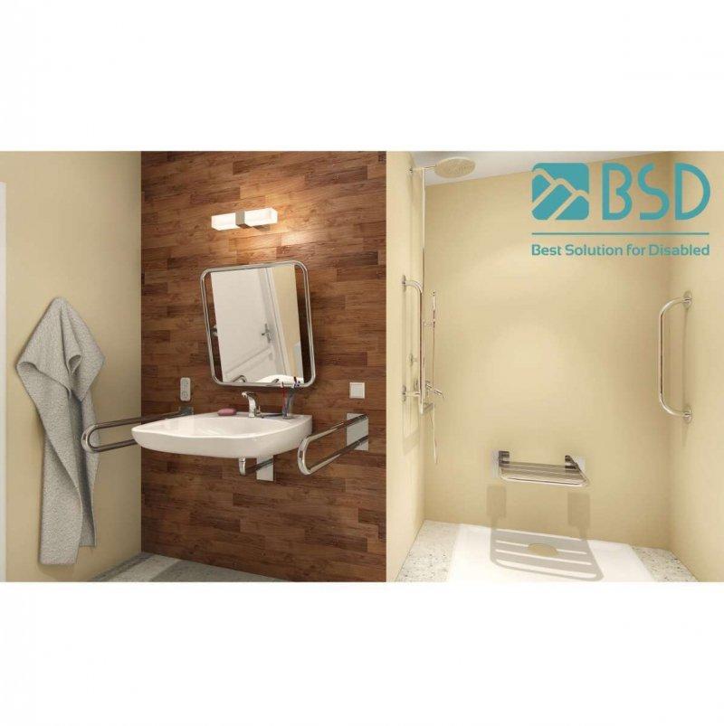 Uchwyt Umywalkowy/WC dla Niepełnosprawnych stały 85cm stal nierdzewna fi32
