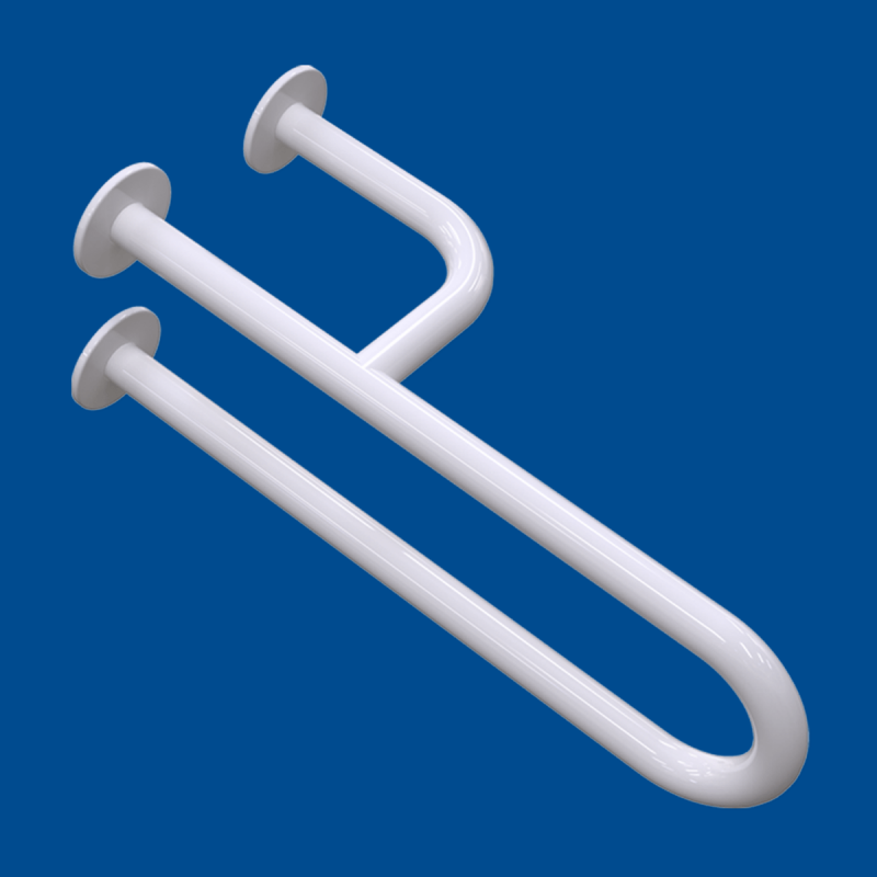 Uchwyt Umywalkowy dla Niepełnosprawnych prawy 40cm biały fi32 + MASKOWNICE