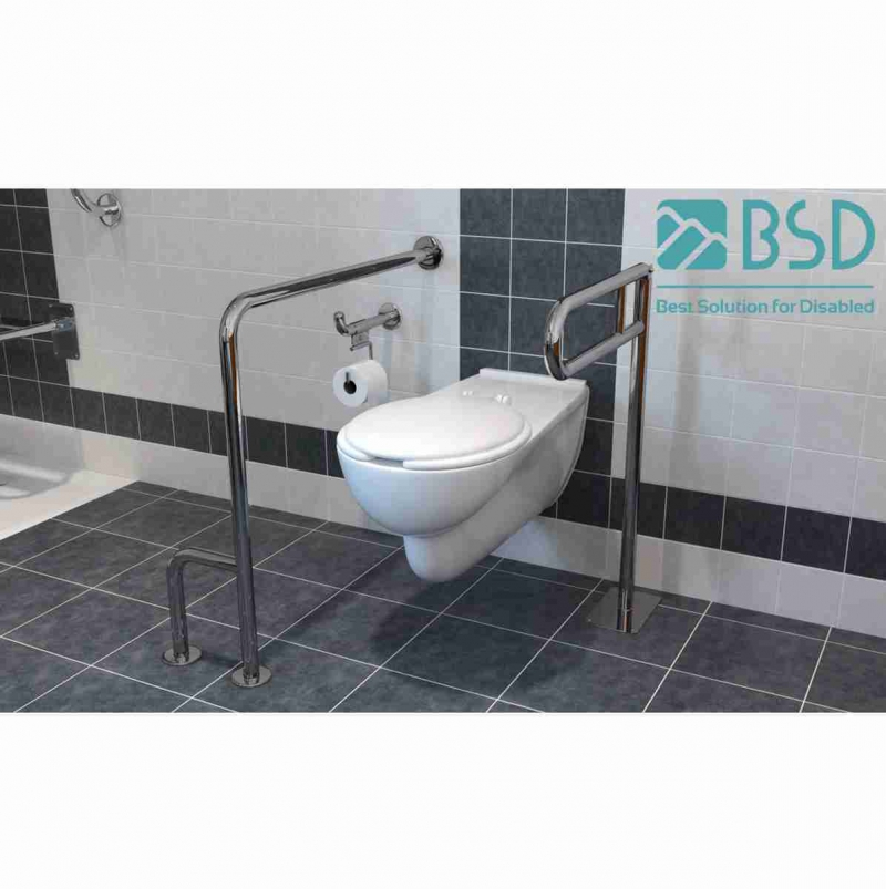 Uchwyt Uchylny WC wolnostojący dla Niepełnosprawnych 60cm sta nied fi25