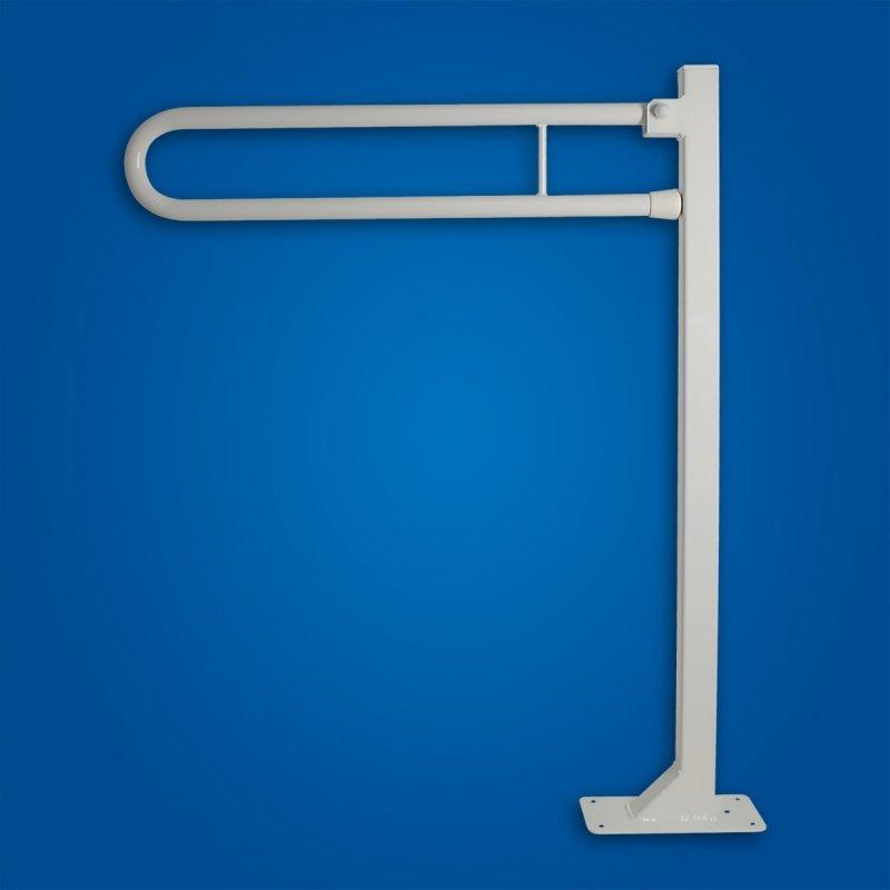Uchwyt Uchylny WC wolnostojący 80cm biały fi25 dla osób niepełnosprawnych