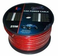 Kabel samochodowy 6Ga OD8mm CU 25m