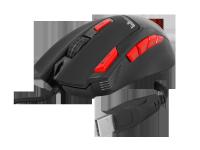 Mysz przewodowa gamingowa RGB/LED Scorpion czarna1,7m  LXGM201