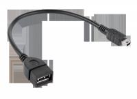 Kabel USB gniazdo A - wtyk mini USB 20cm OTG