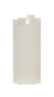 Świeca woskowa LED średnia  ivory