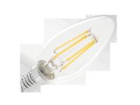 Lampa LED 4W świeca (filament) E14 3000K, 230V