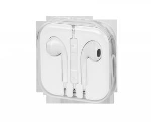 Zestaw słuchawkowy uniwersalny douszny biały