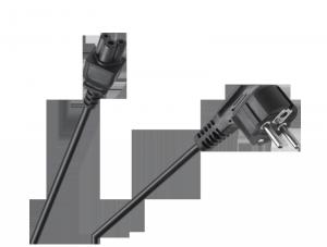 Kabel sieciowy do laptopa (koniczynka) 1.5m Cabletech Eco-Line