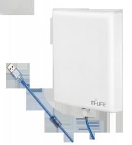 Aktywna antena WiFi USB 2,4GHz M-Life