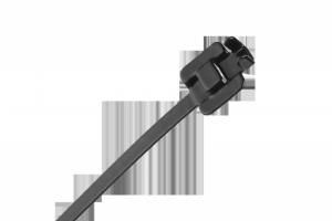 Opaska zaciskowa stalowa z powłoką nylonową  23cm. x 6.3mm