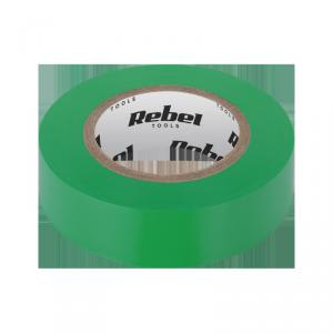 Taśma izolacyjna klejąca REBEL (0,13 mm x 19 mm x 20 yd) zielona