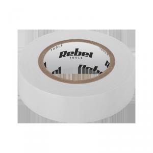 Taśma izolacyjna klejąca REBEL (0,13 mm x 19 mm x 20 yd) biała