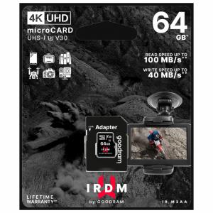 Karta pamięci microSD 64 GB UHS-I U3 Goodram z adapterem