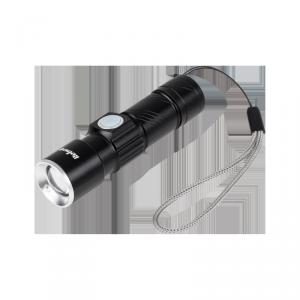 Latarka aluminiowa  3W  (ZOOM,  wtyk  USB)