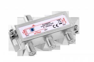 Splitter 3way 5-2450MHz power pass