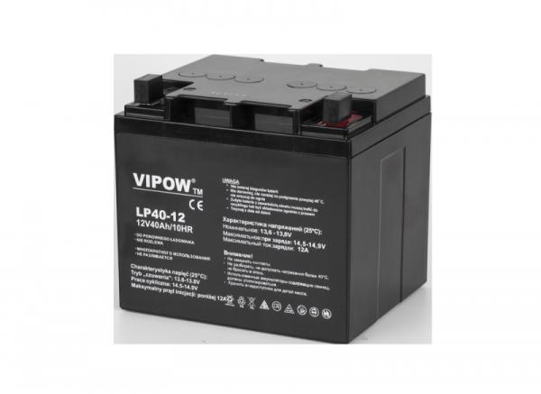 Akumulator żelowy VIPOW 12V 40Ah