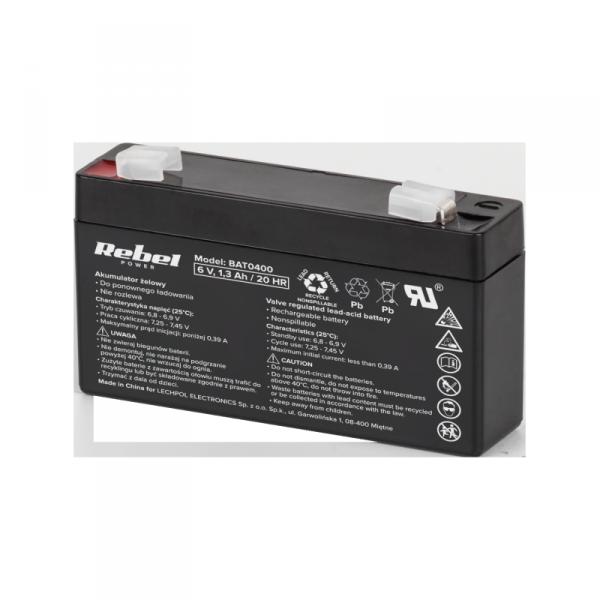 Akumulator żelowy Rebel  6V 1.3Ah