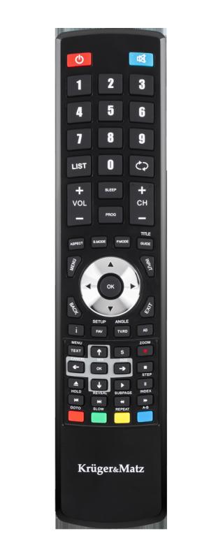 "Telewizor Kruger&Matz 24"" HD DVB-T2 H.265 HEVC   230/12V"