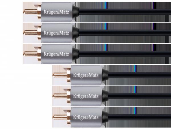 Kabel 3RCA-3RCA component 3.0m Kruger&Matz