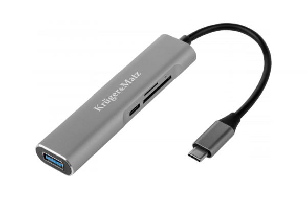 Adapter (HUB) USB typu C na HDMI/USB3.0/SD/MicroSD/C port