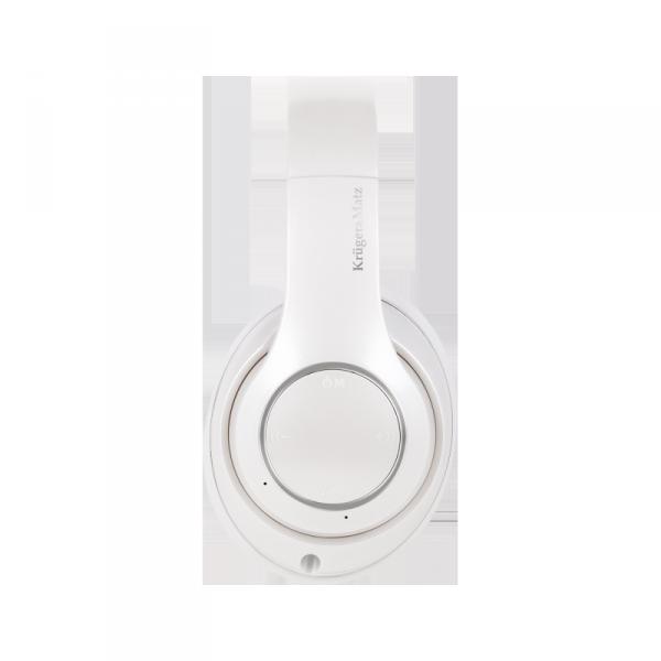 Bezprzewodowe słuchawki nauszne Kruger&Matz model Street 3 Wireless, kolor biały
