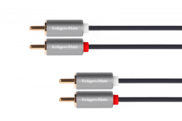Kabel 2RCA-2RCA 1m Kruger&Matz Basic
