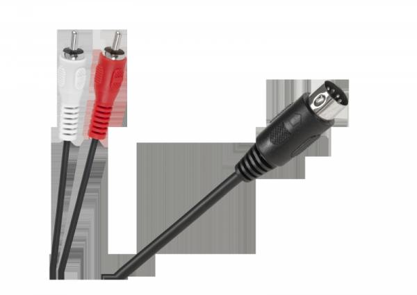 Kabel DIN-2 x RCA 1,2m