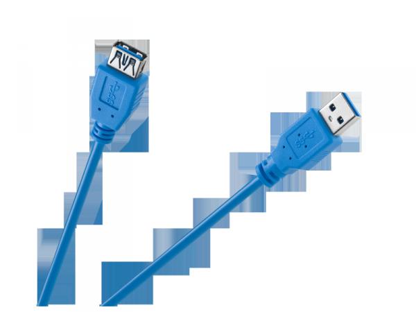 Kabel USB 3.0 AM/AF 1.8M