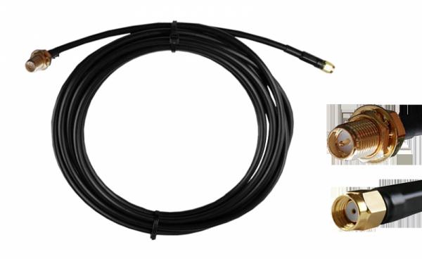 Kabel RP-SMA męski - RP-SMA żeński 5m