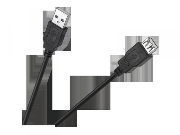 Kabel USB wtyk-gniazdo 1.5m Cabletech Eco-Line