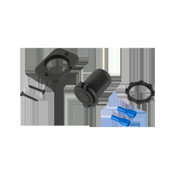 Ładowarka samochodowa 2xUSB do montażu 3100 mA Homologacja E24