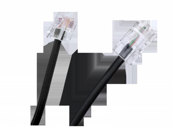 Kabel 8P4C - 6P4C, 3m, czarny