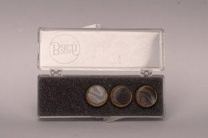 Nakrętki z kamieniami szlachetnymi do wentyli tłokowych do trąbki Vincent Bach Valve Buttons Brazil Agate pozłacane
