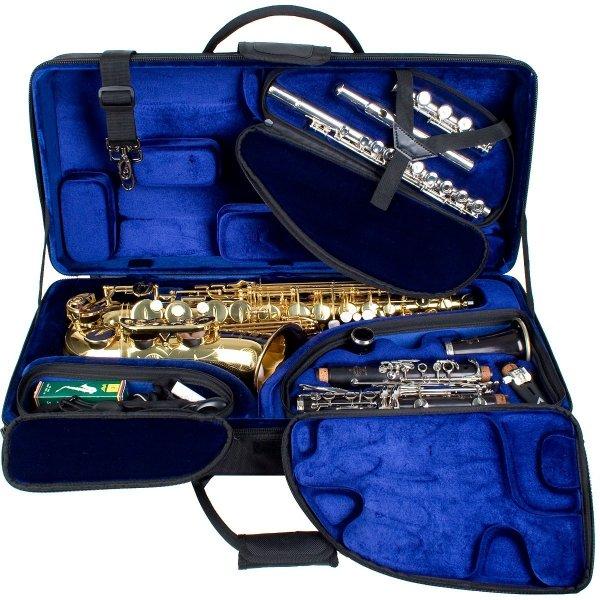 Futerał na saksofon altowy/klarnet B/flet poprzeczny Protec PBTRI/ALT