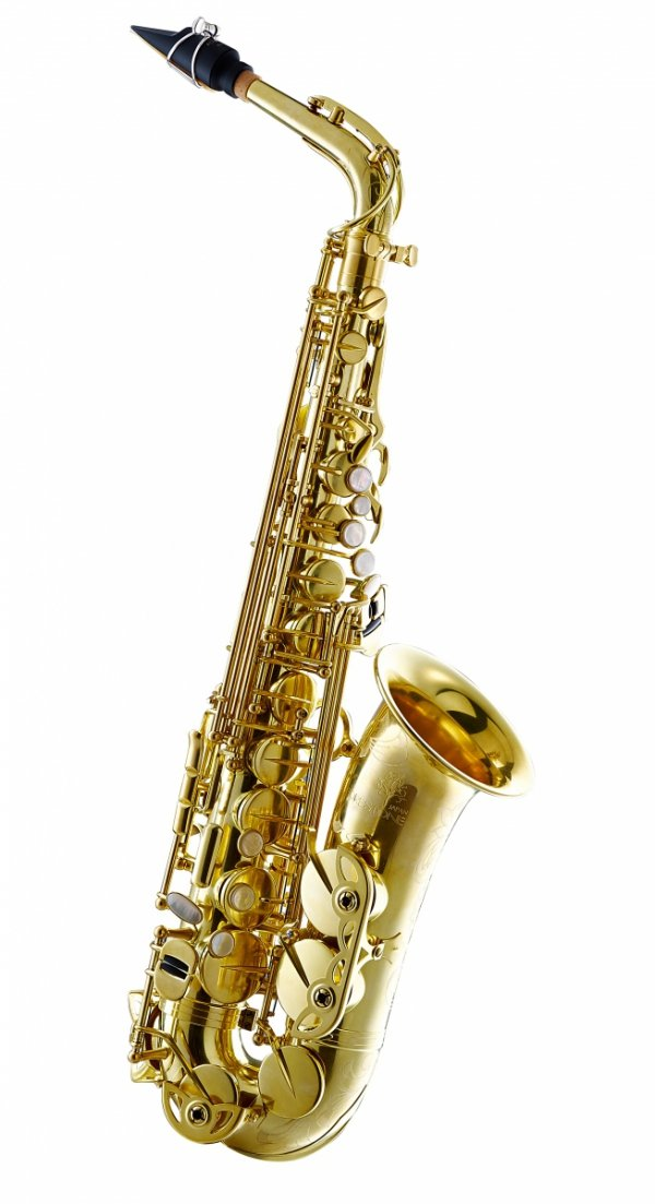 Saksofon altowy Forestone bez lakieru, zdobiony, RX rolled tone holes