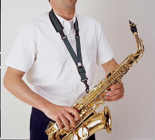 Pasek do saksofonu altowego i tenorowego BG S10ESH elastyczny