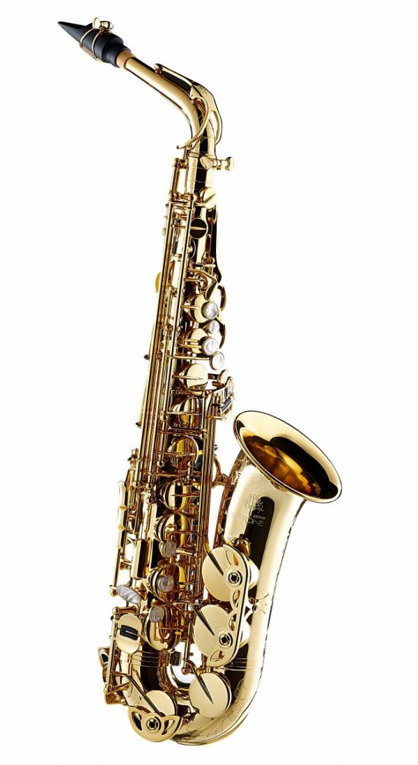 Saksofon altowy Forestone lakierowany, zdobiony, rolled tone holes
