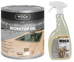 Zestaw do blatów Olej Worktop 0,75 L + Mydło Spray Woca 0,75 L