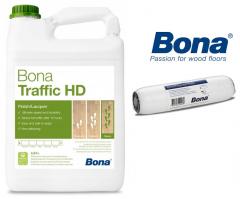 Lakier Bona Traffic HD 4,95L EXTRA MATT + wałek GRATIS!