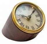 Zegar na biurko w oprawie skórzanej CLK-0210B