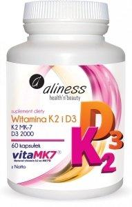 Aliness Witamina K2 i D3 60 kapsułek
