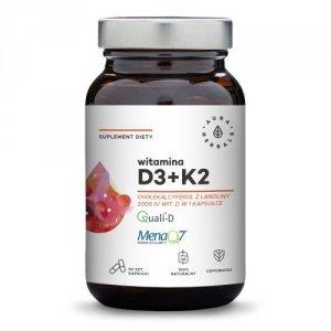 Witamina D3 2000 IU + K2, kapsułki 90 szt. Aura Herbals