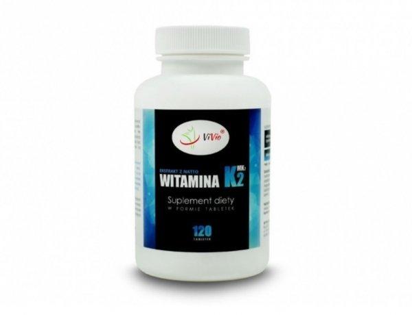Witamina K2 MK7 natto 120tab 100mcg D048