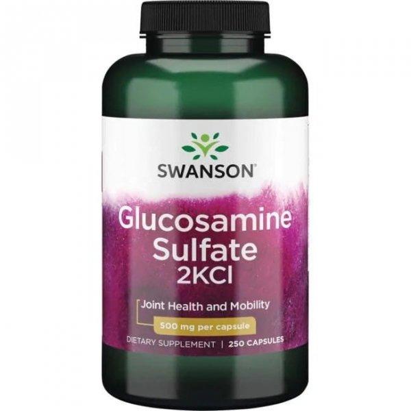 Swanson Glukozamina 500mg 250 kaps SW528