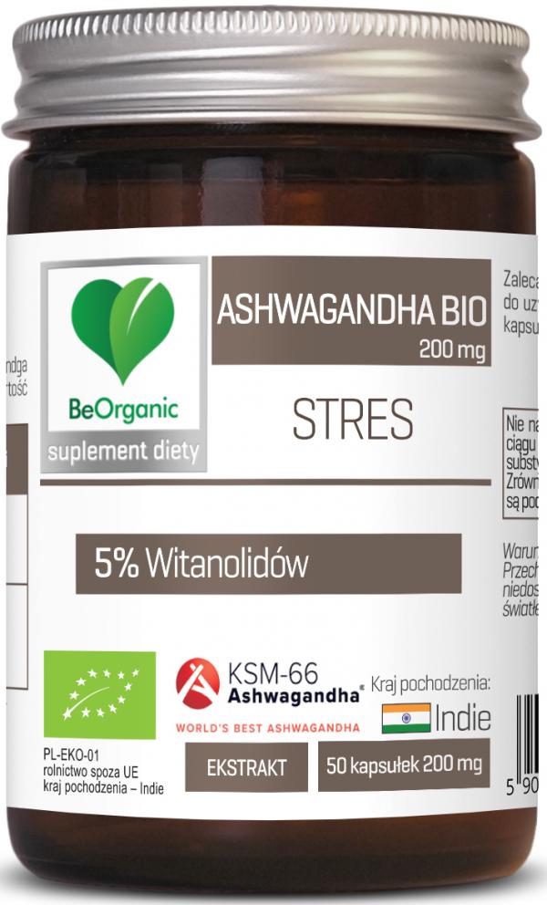 Ashwagandha KSM-66® 5% BIO, 200mg x 50 kaps