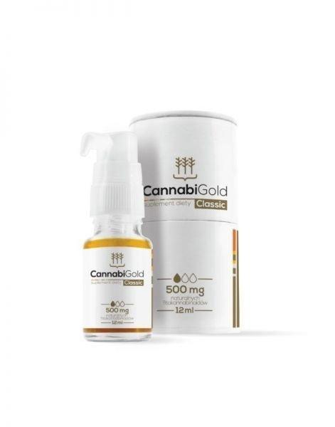 HemPoland CannabiGold Classic 500 mg 12 ml. Właściwości CBD, konopii włóknistych.