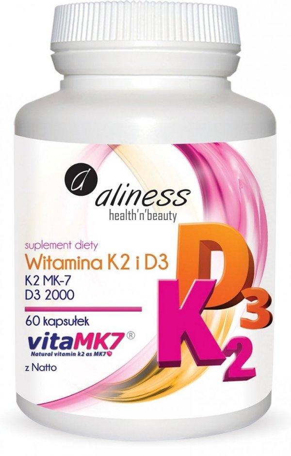 Witamina K2 i D3 60 kapsułek Aliness