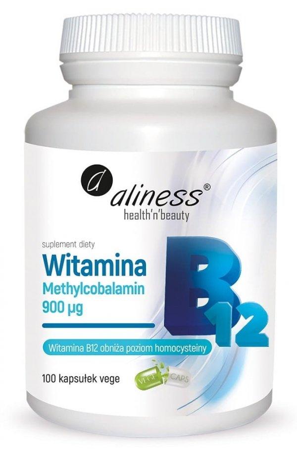 Witamina B12 Methylcobalamin 900µg 100 kapsułek Aliness